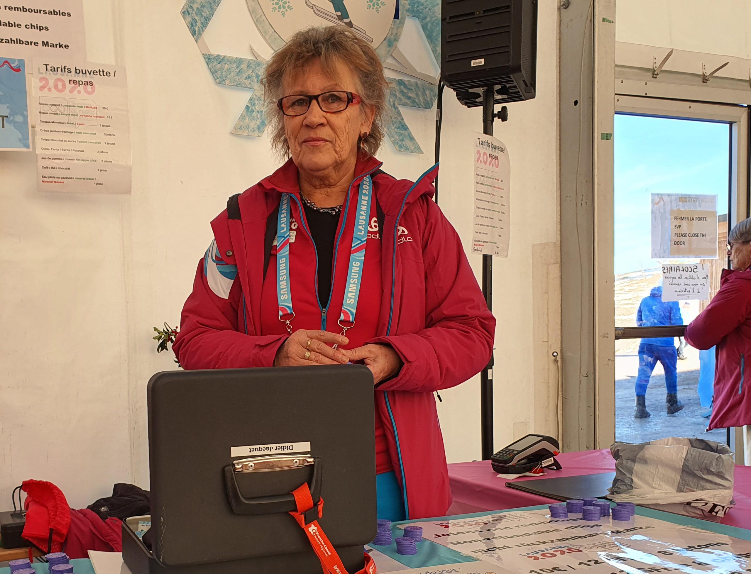 Anne-Marie, bénévole aux JOJ 2020 (site des Rousses) - Photo DR