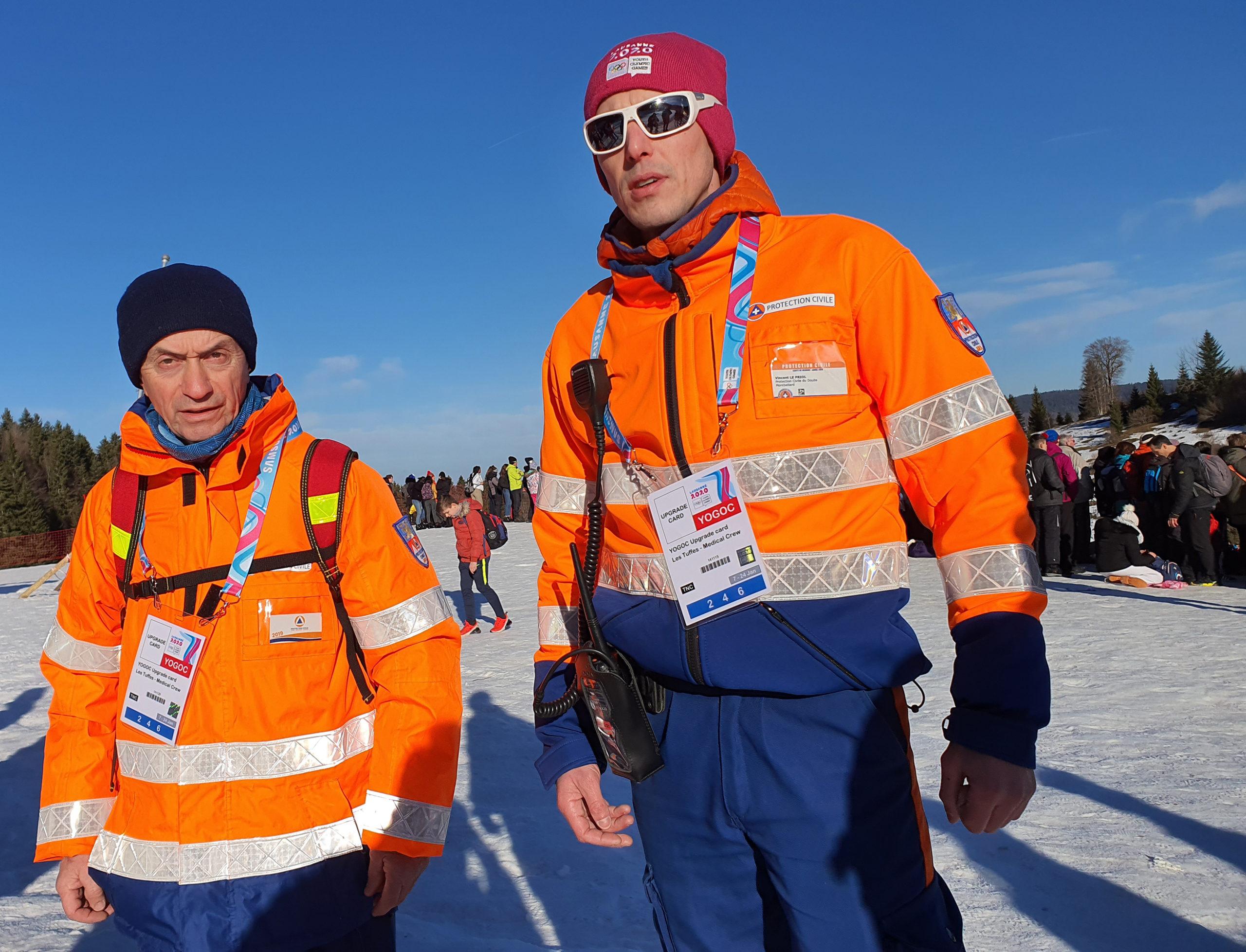 Jean-Jacques et Vincent, bénévoles aux JOJ 2020 (site des Rousses) - Photo DR