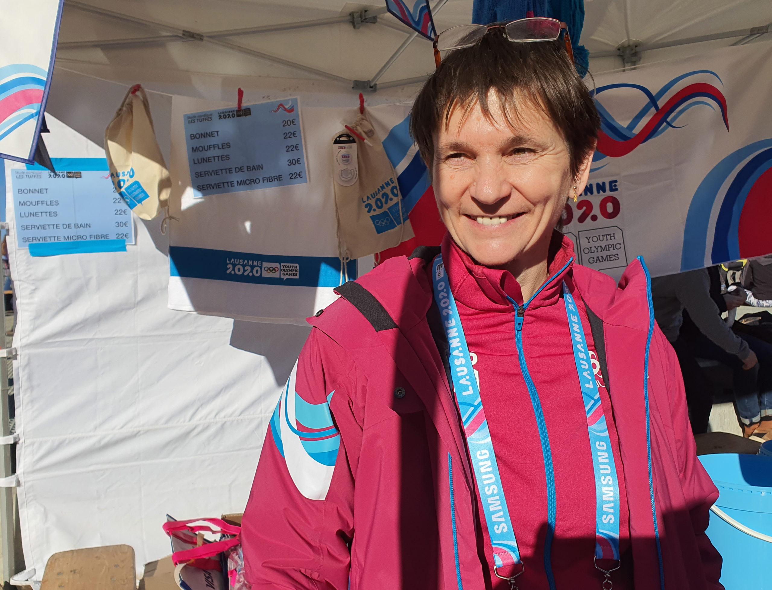 Kati, bénévole aux JOJ 2020 (site des Rousses) - Photo DR