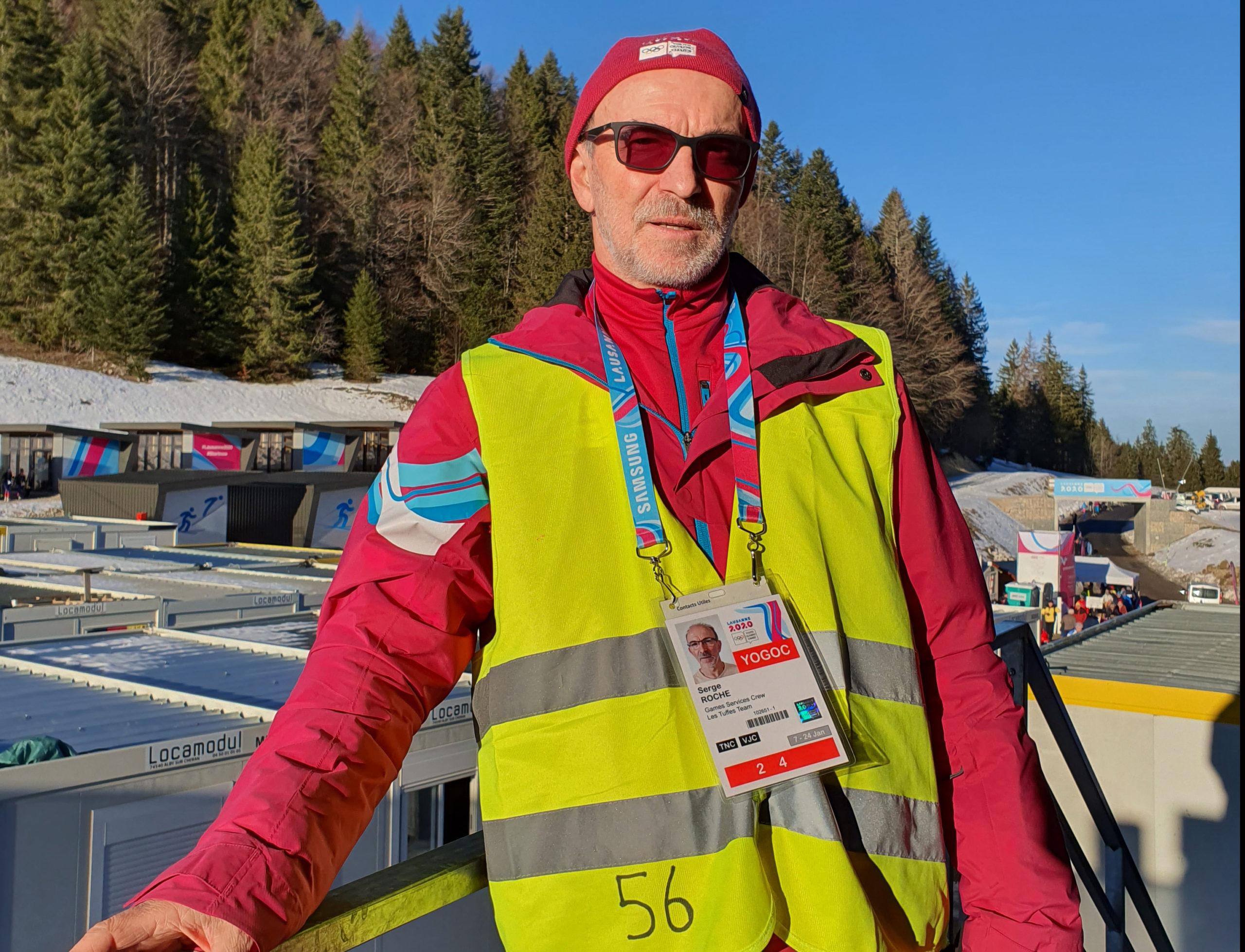Serge, bénévole aux JOJ 2020 (site des Rousses) - Photo DR